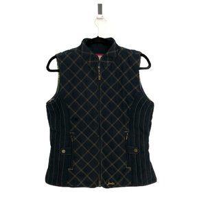 Joules Women's Navy Blue Full Zip Quilt Puff Vest